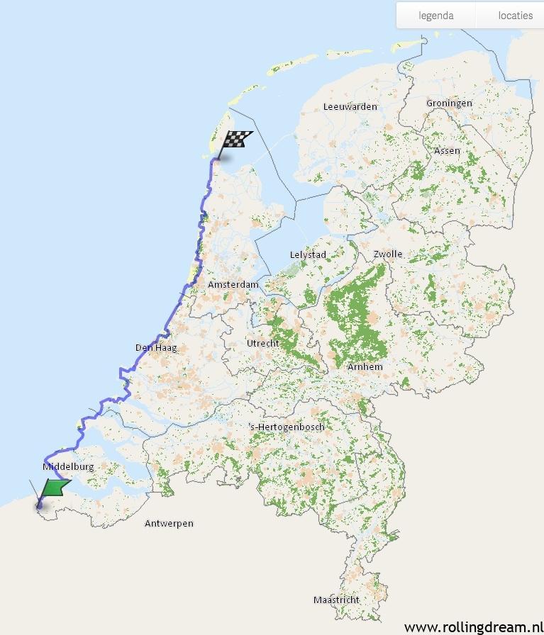 noordzeeroute fiets 333km